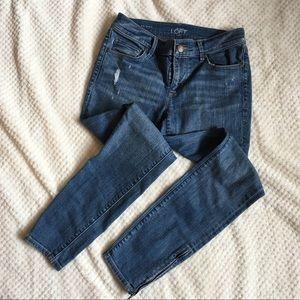 Loft modern skinny ankle jeans 25/0